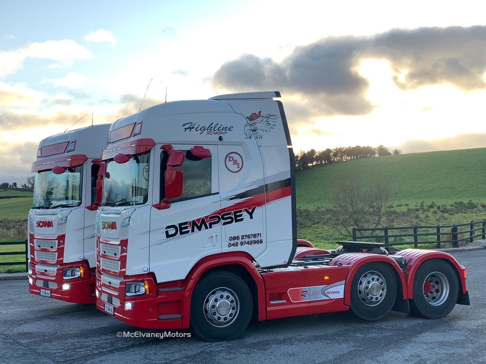 Two Stunning Scania R450 Highlines for Cathal Dempsey