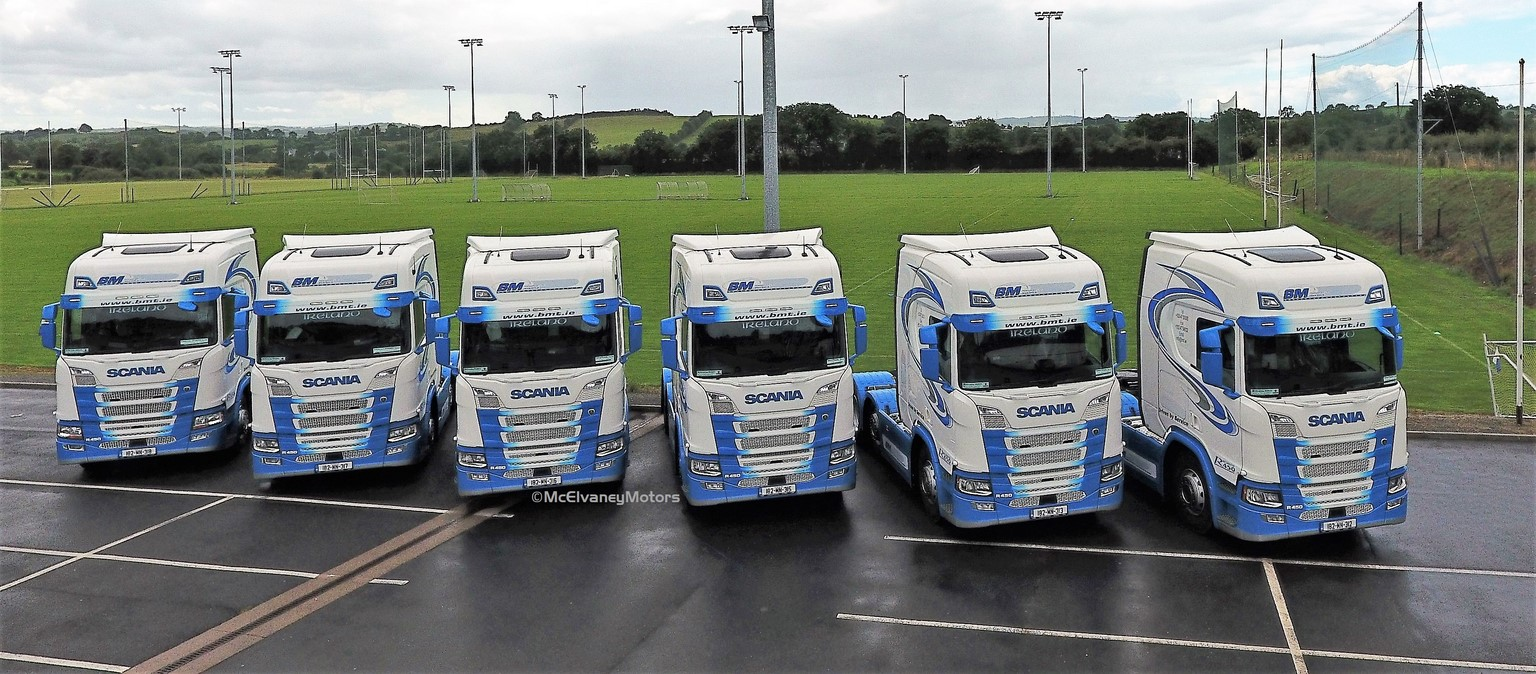 Another Six New Scania R450s for BM Transport