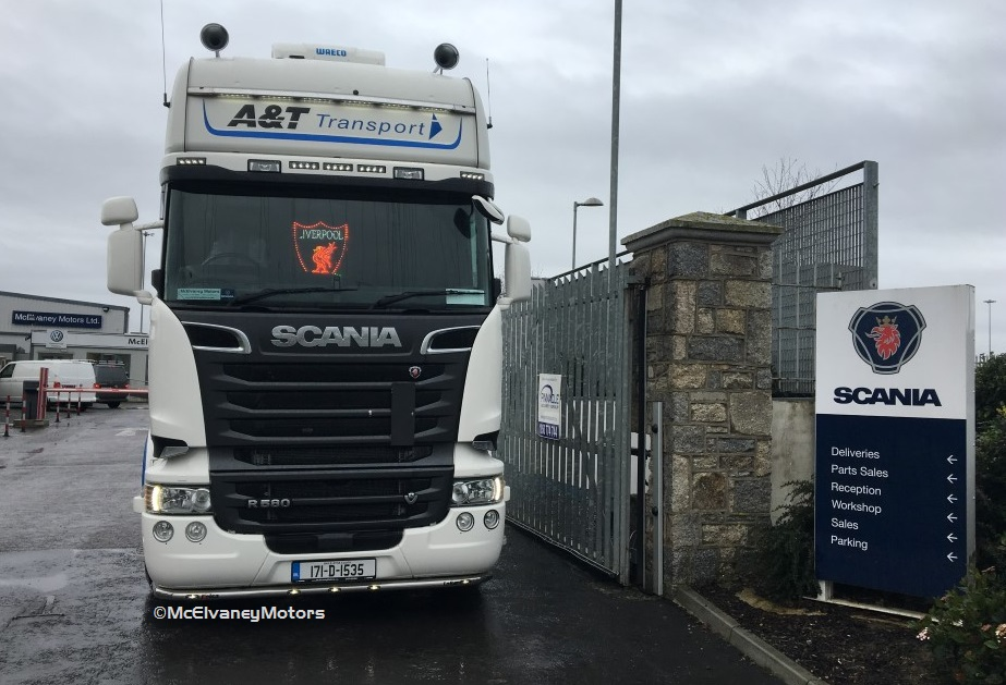 A & T Transport Choose New Scania R580