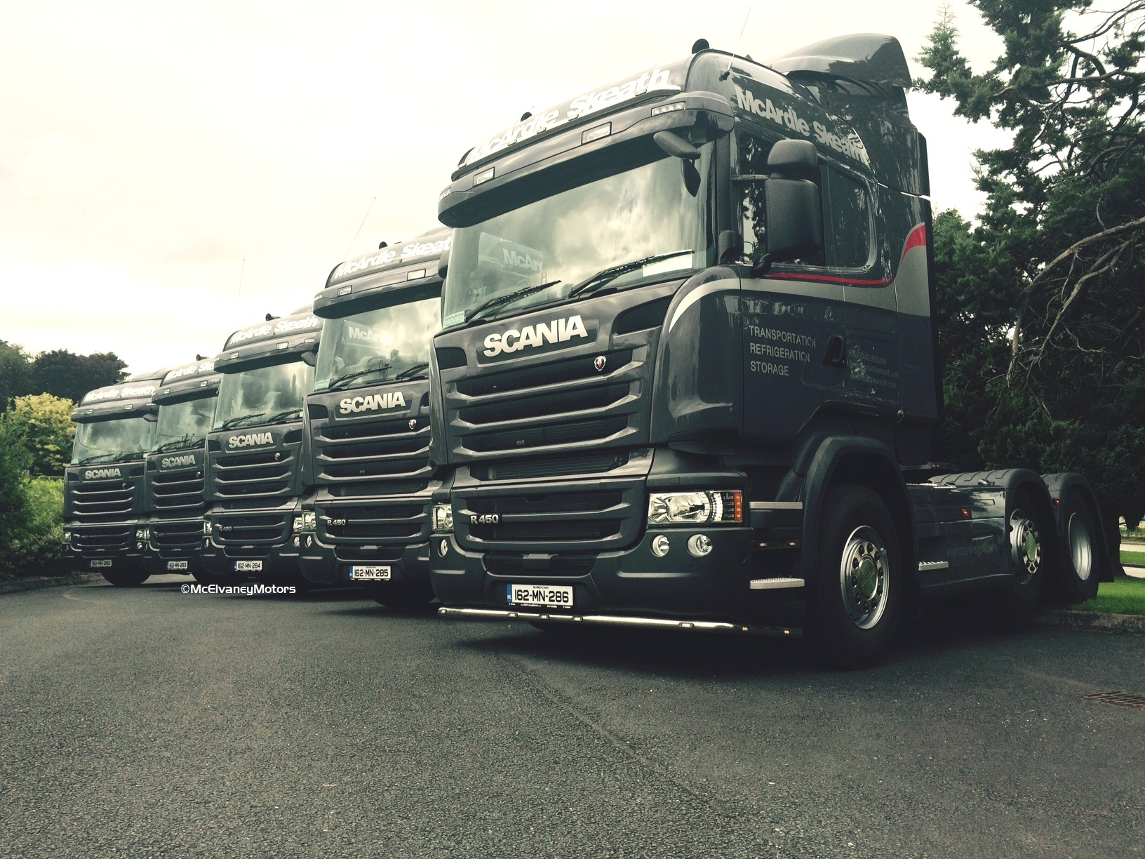 Five New Scania R450 Highlines for McArdle Skeath