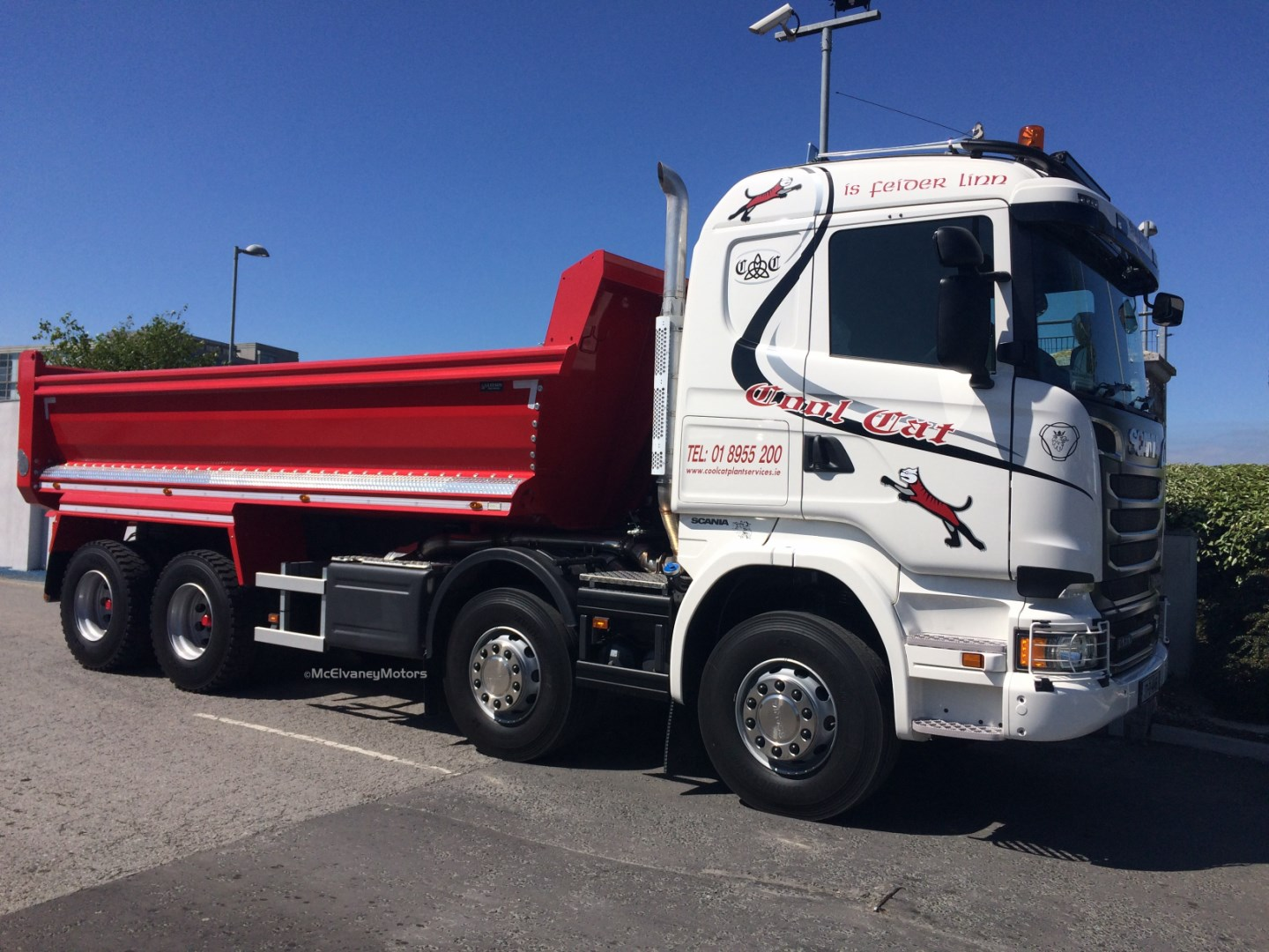 New Scania R580 Tipper for Cool Cat Plant Services