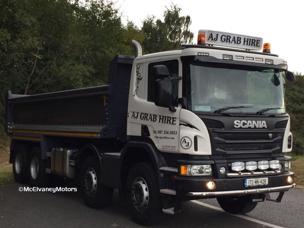 New Scania P410 for AJ Grab Hire