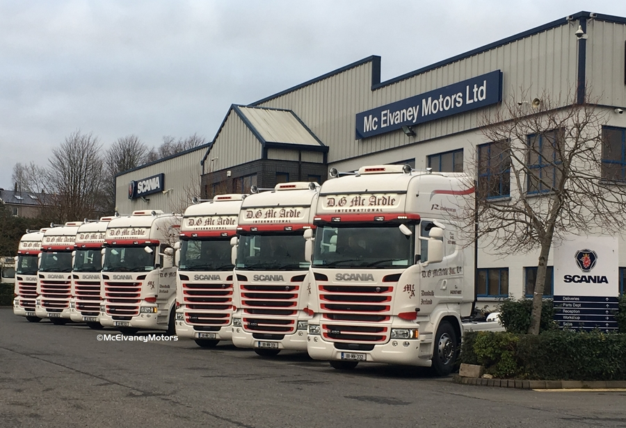 Seven Stunning Scania R450s for DG McArdle Int