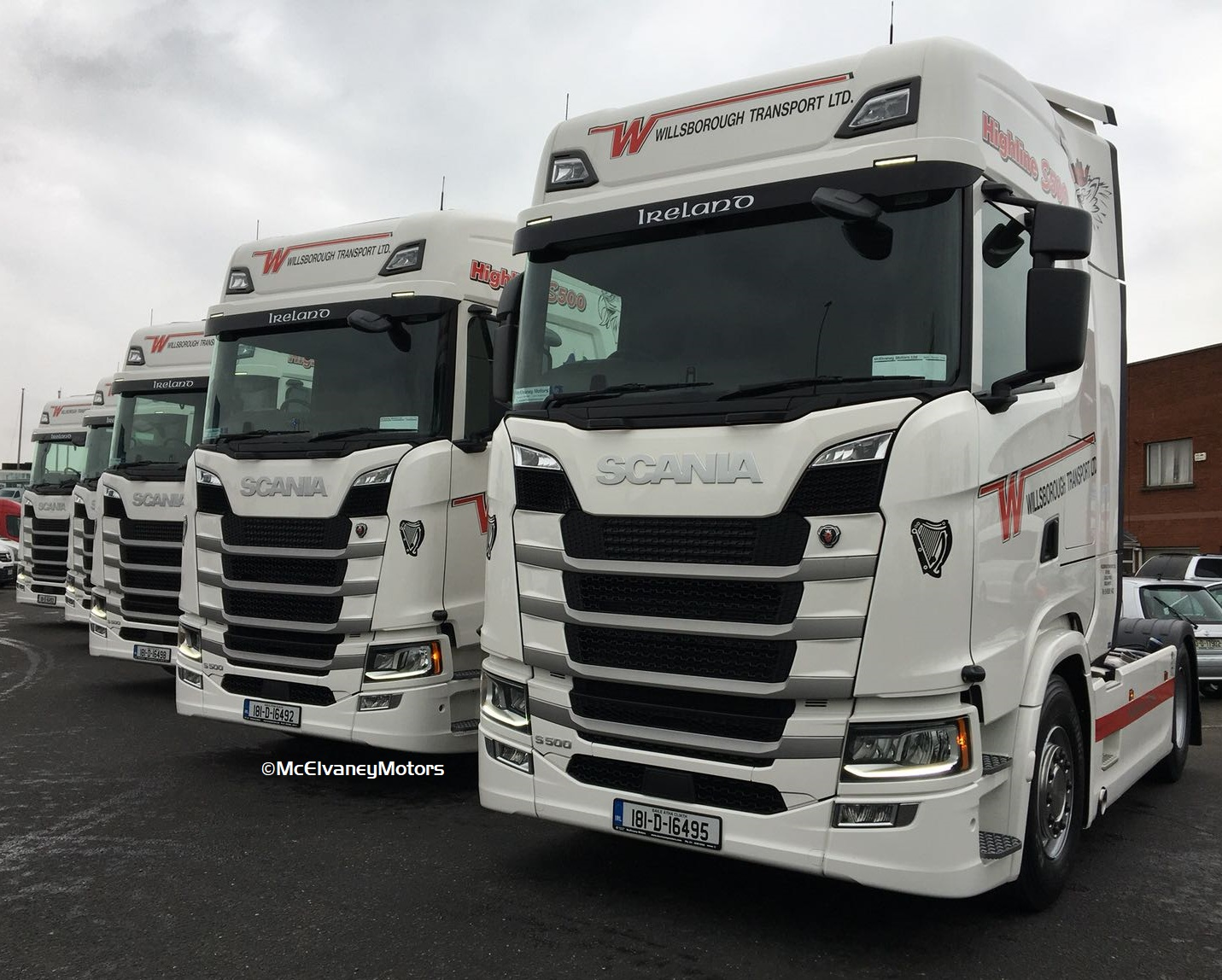 FIVE New S500 Scanias for Willsborough Transport