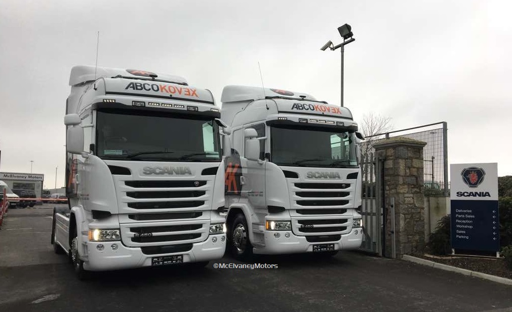 TWO Stunning Scania R450 for Abco Kovex