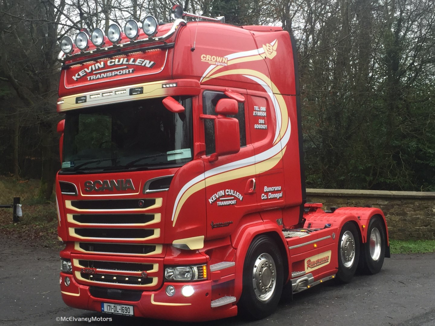Kevin Cullen Transport Chooses Scania R580