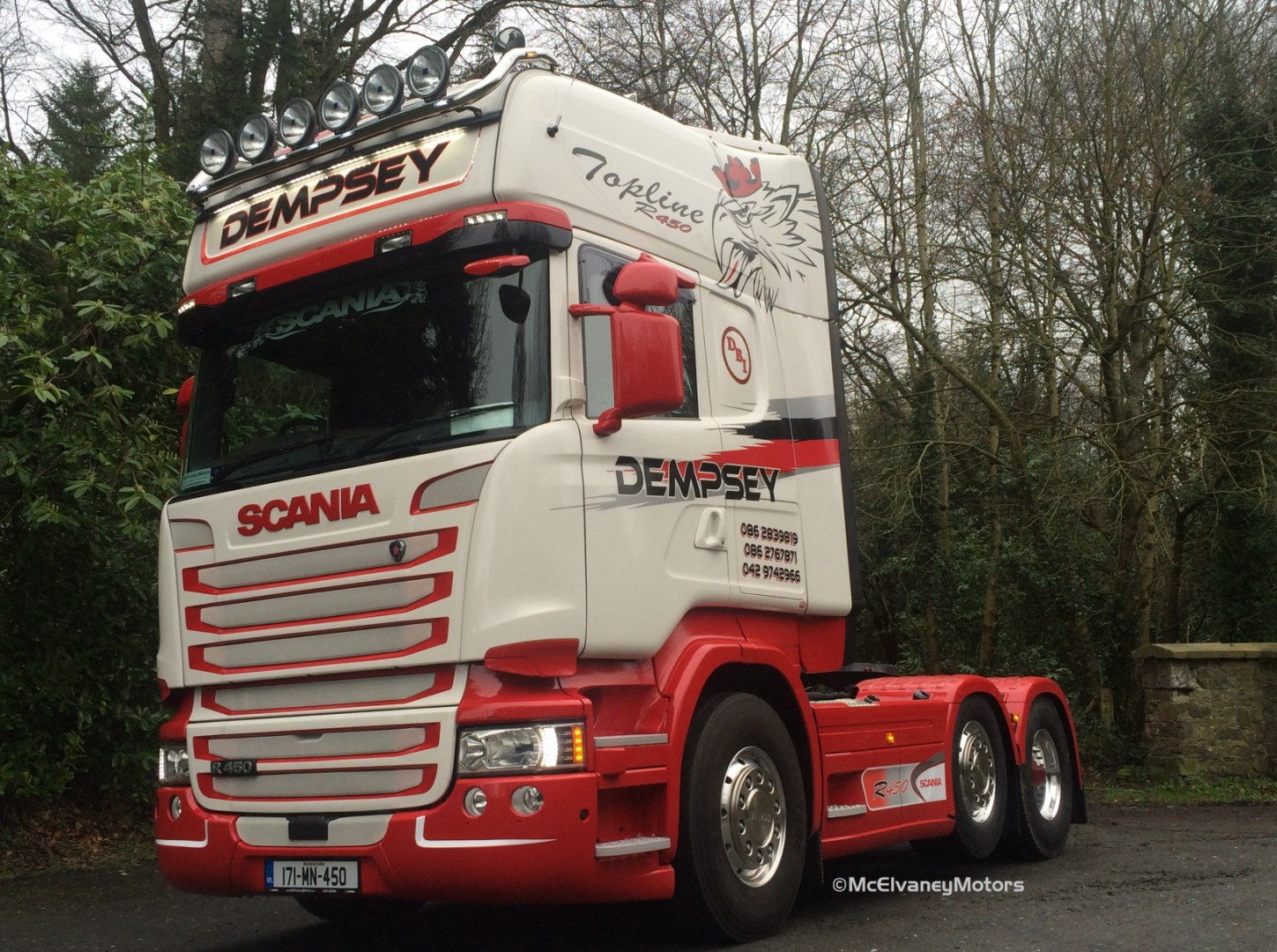 New Scania R450 for Dempsey Bros!