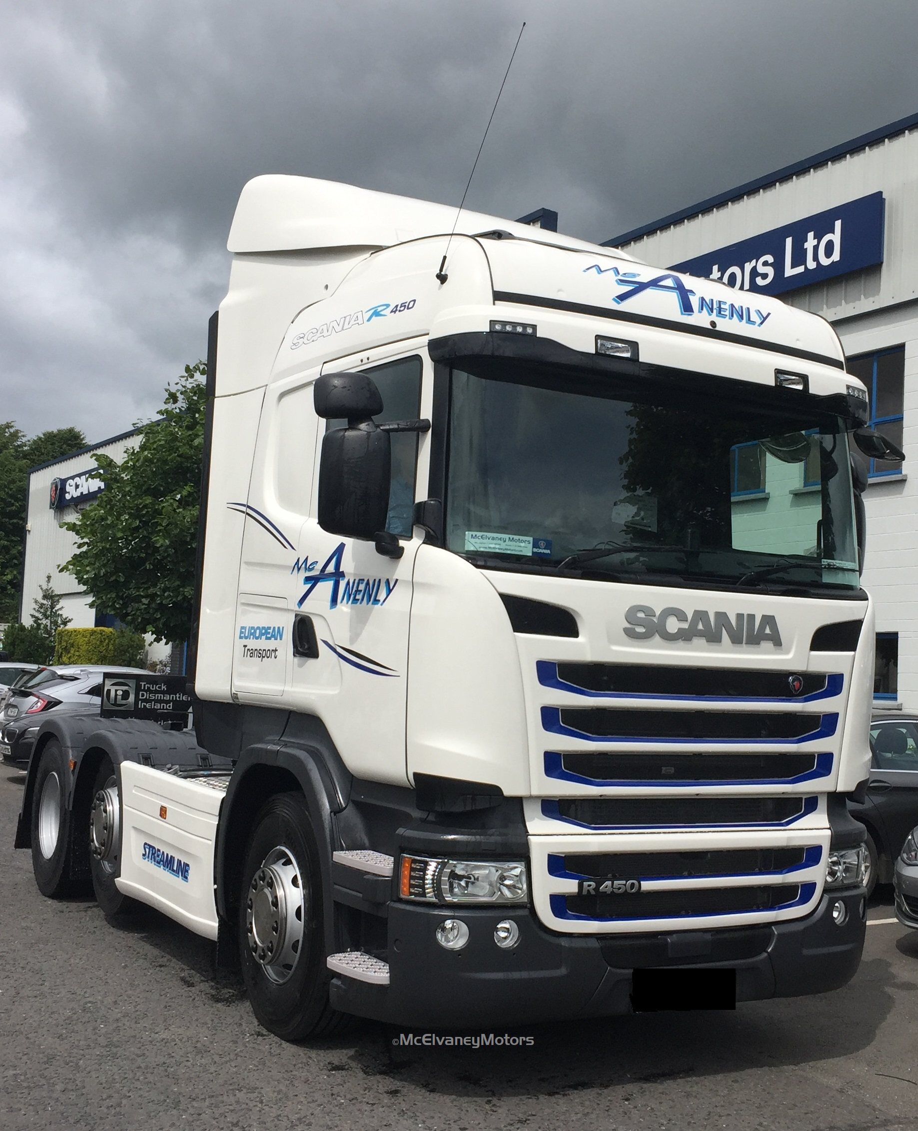 New Scania R450 for McAnenly European Transport