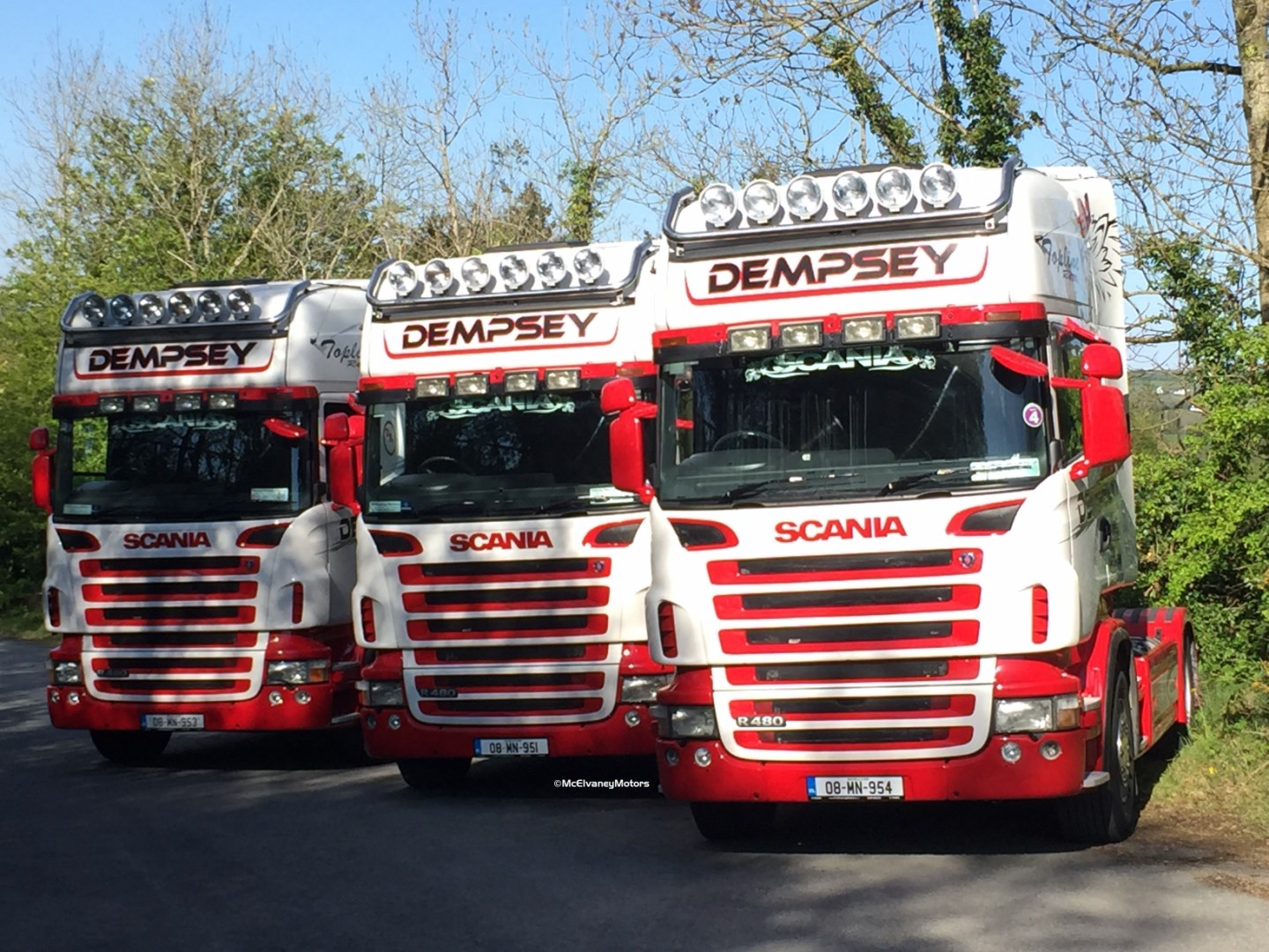 Four 2008 Scania R480s for Dempsey Bros