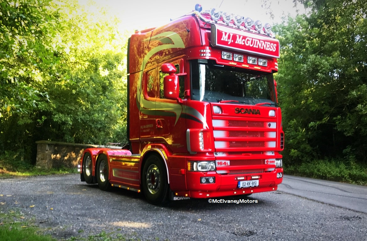 Immaculate Scania 164 for MJ McGuinness
