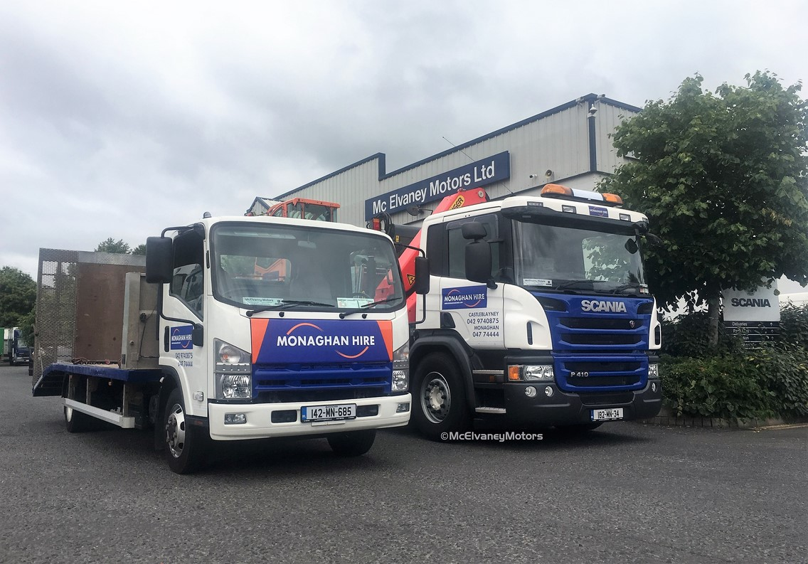 Monaghan Hire Chooses New Scania P410 and Isuzu