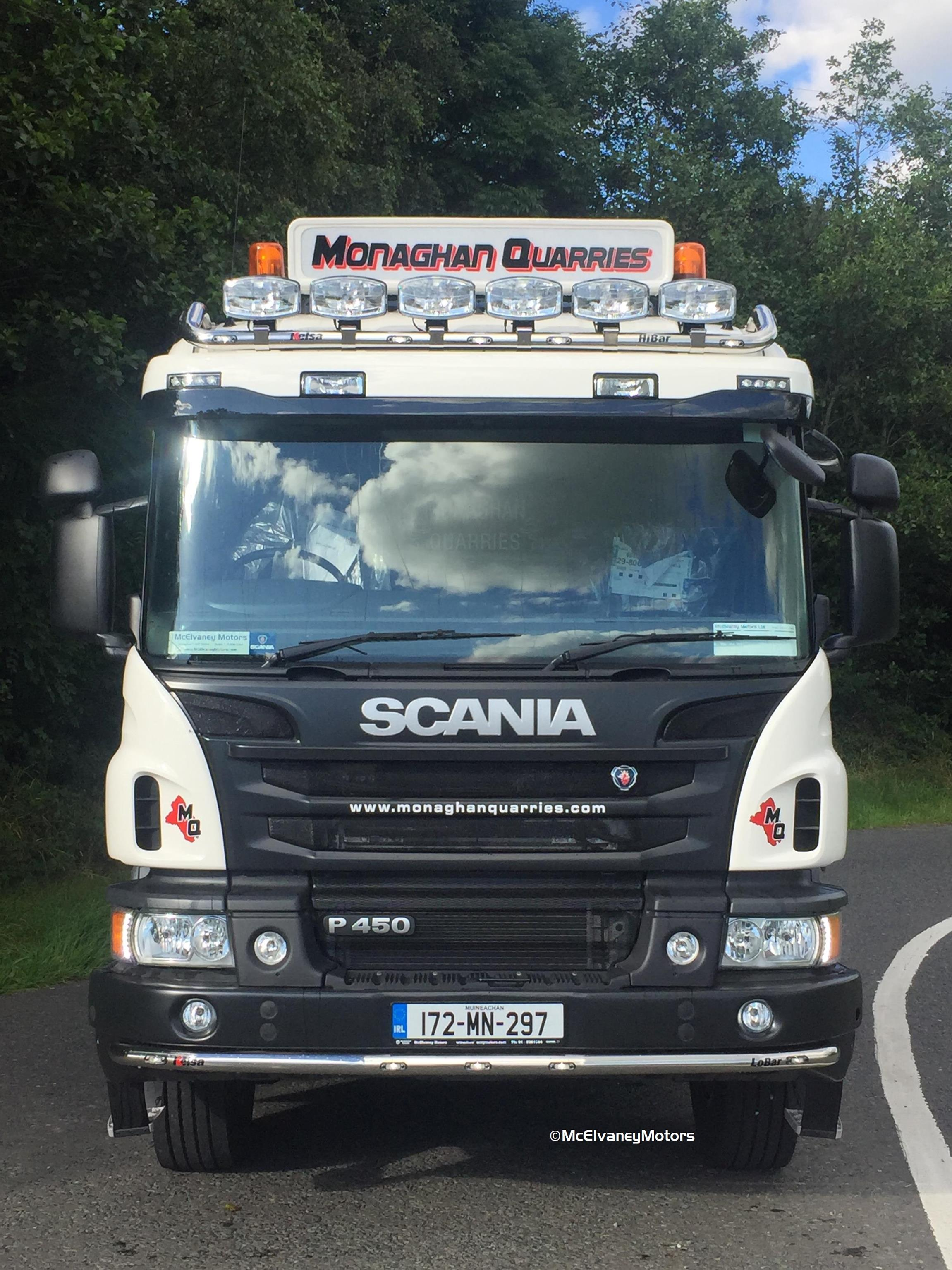 Monaghan Quarries Chooses New Scania P450 Tipper