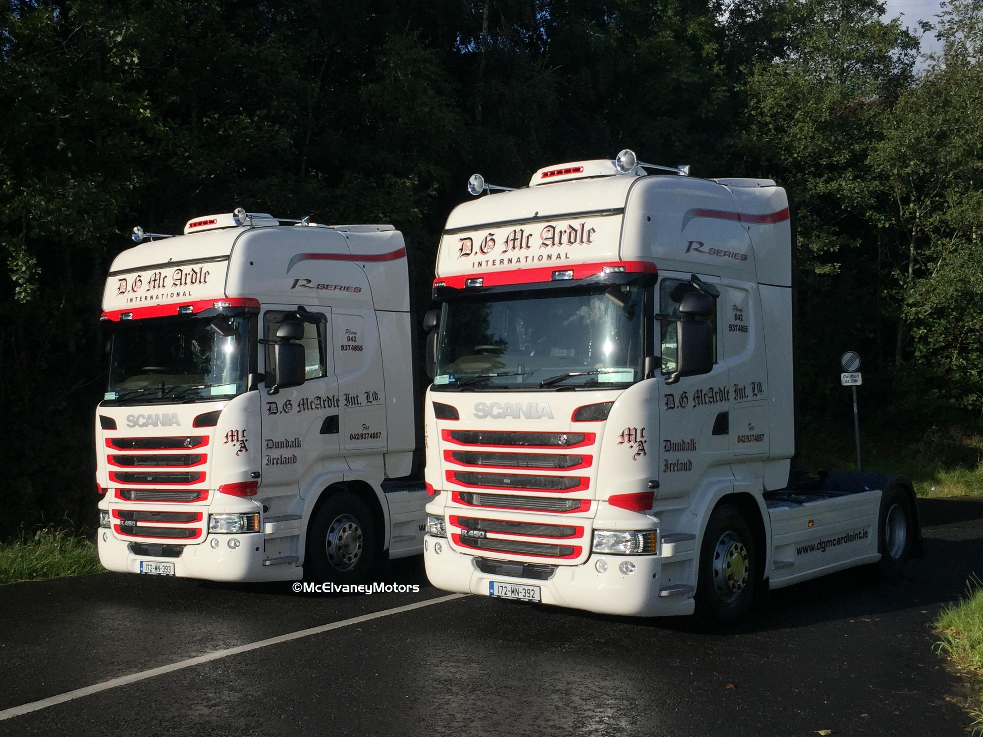 Two New Scania R450s for DG McArdle International