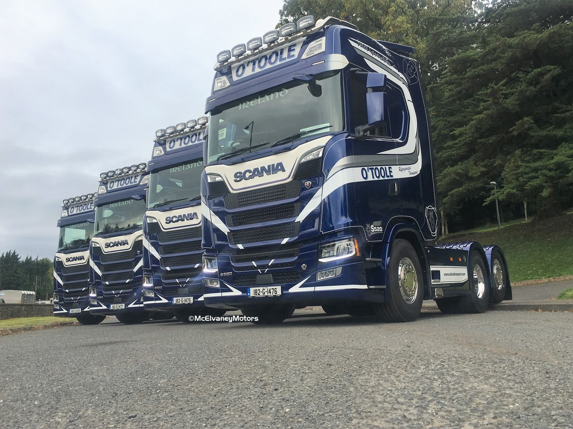 Four Beautiful Scania S520s for O'Toole Transport