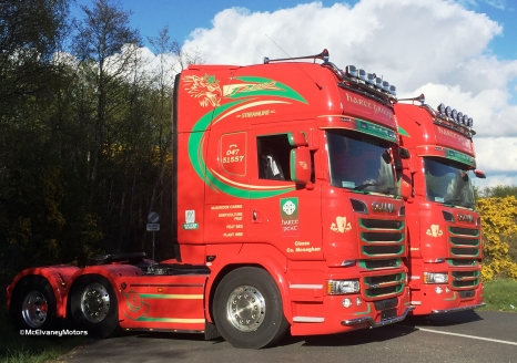 Two New Scania R620s For Harte Peat