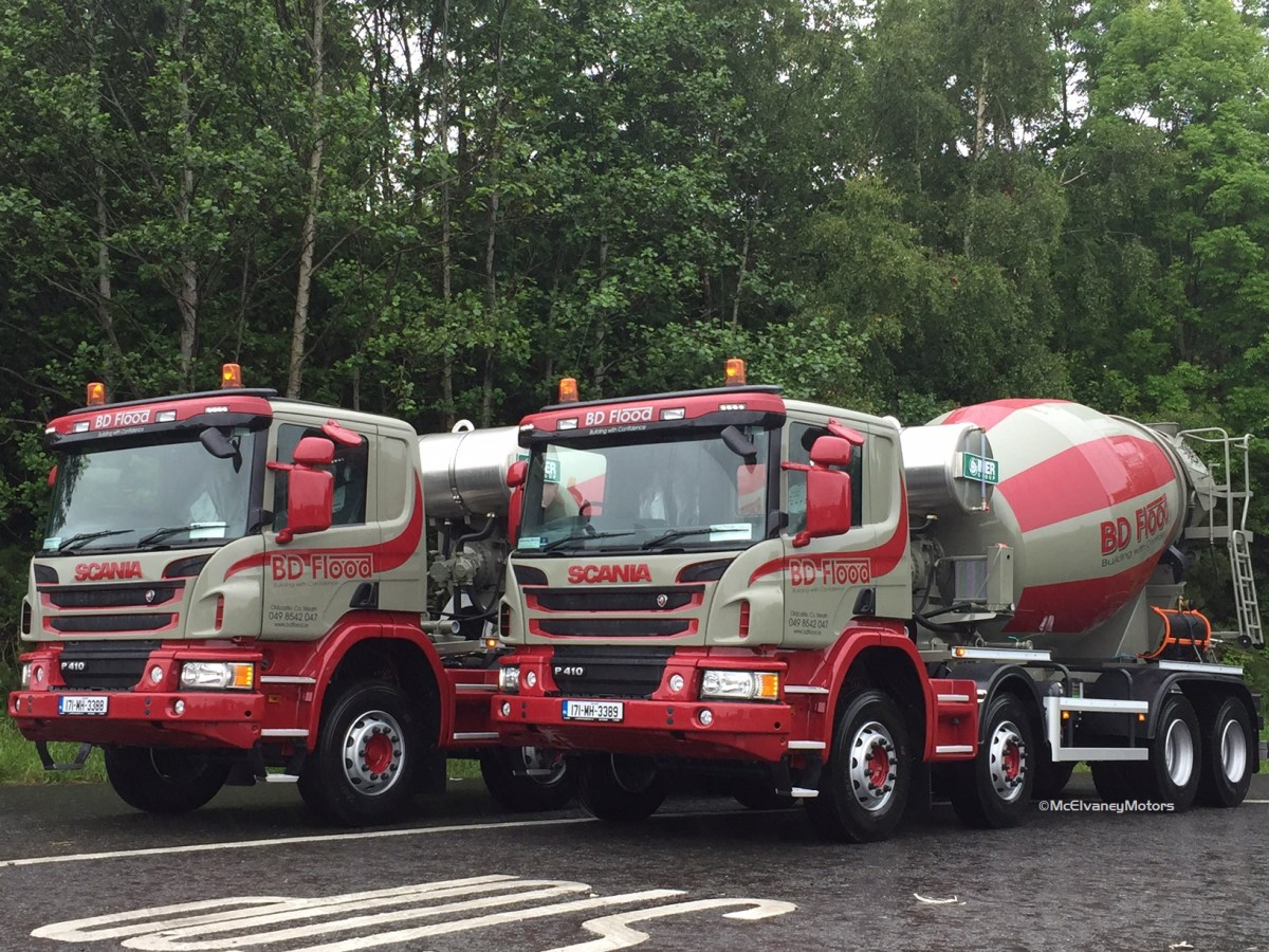 Two new Scania P410 Mixers for BD Flood
