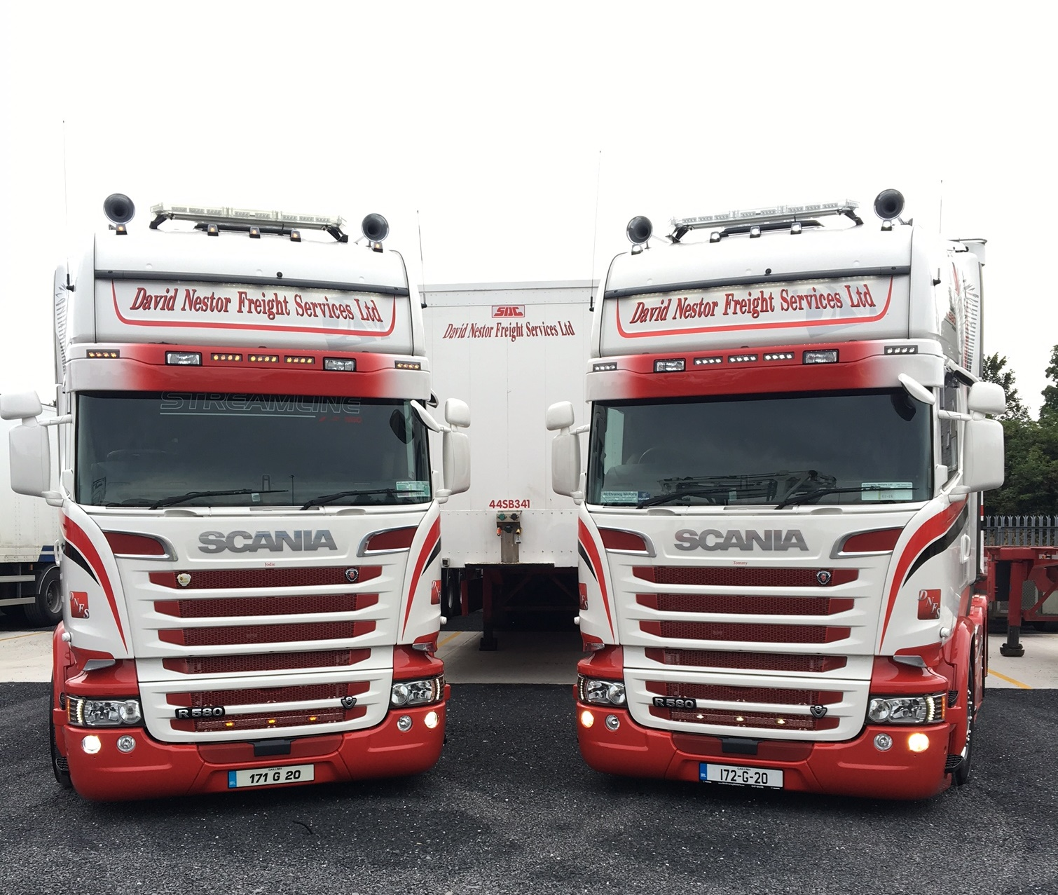 Two New Scania R580s for David Nestor Freight Services This Year